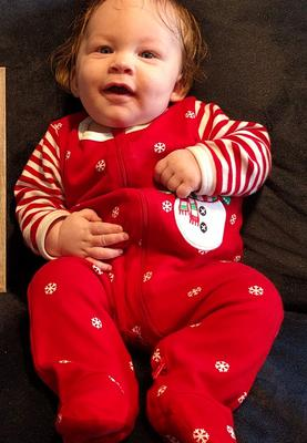 Happy baby for Christmas!!